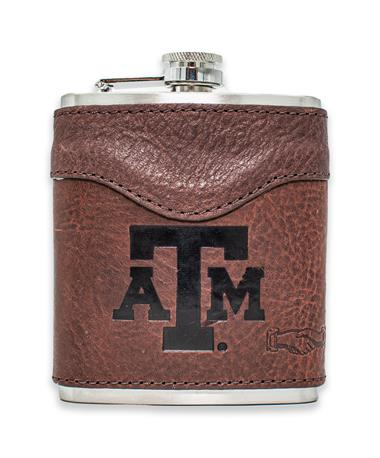 Texas A&M Campaign Leather Flask ATM