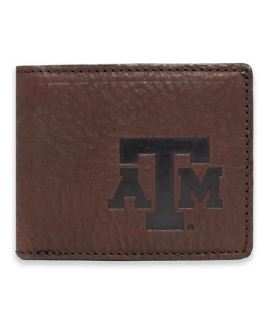 Texas A&M Campaign Leather Bi-Fold Wallet