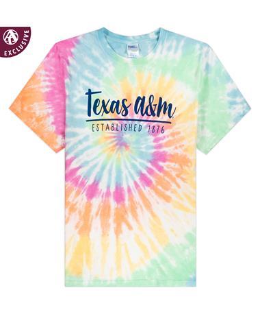 Texas A&M Established 1876 Tie Dye T-Shirt