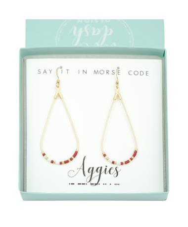 Texas A&M Aggies Morse Code Earrings