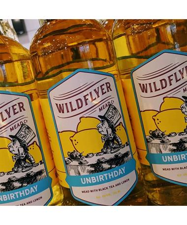 IN STORE PICKUP OR LOCAL DELIVERY ONLY: Wildflyer Mead Unbirthday Black Tea & Lemon Mead