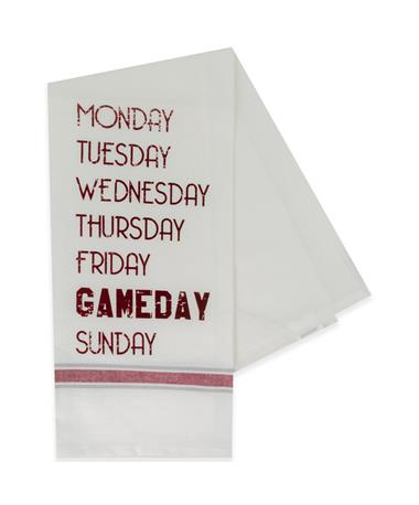 Maroon Gameday Saturday Hand Towel
