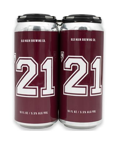 IN STORE PICKUP OR LOCAL DELIVERY ONLY: Old Main '21 Maroon Ale 4 Pack Beer