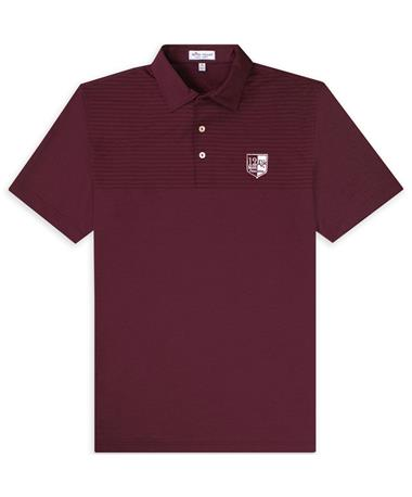 PRE-ORDER ITEM: 12th Man Foundation Peter Millar Slims Engineered Striped Stretch Polo