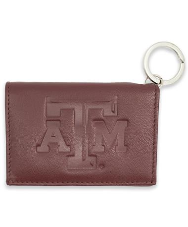 Texas A&M Nappa Leather Snap ID Holder