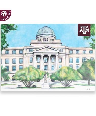 Texas A&M Academic Building Postcard