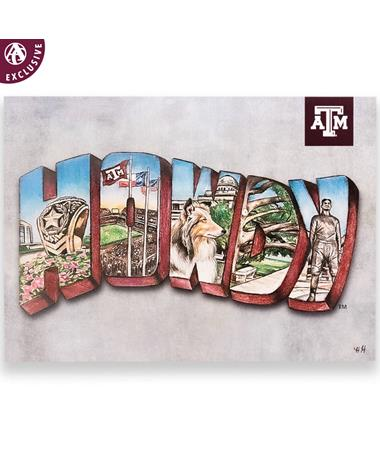 Texas A&M HOWDY Traditions Postcard