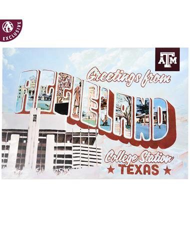 Texas A&M Greetings from Aggieland Postcard