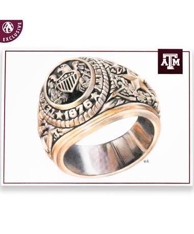 Texas A&M Aggie Ring Postcard
