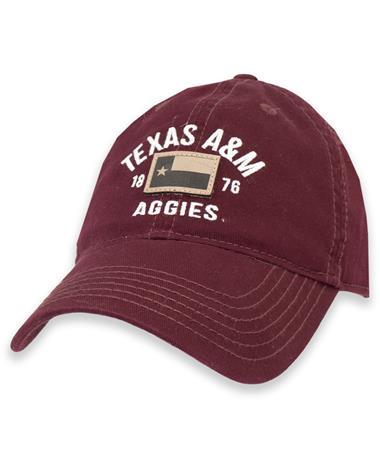 Texas A&M Maroon 1876 Texas Flag Hat