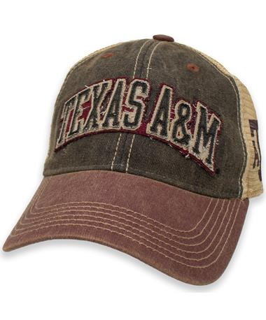 Texas A&M Arched Old Trucker Hat