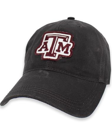 Texas A&M Wax Cotton Patch Adjustable Hat