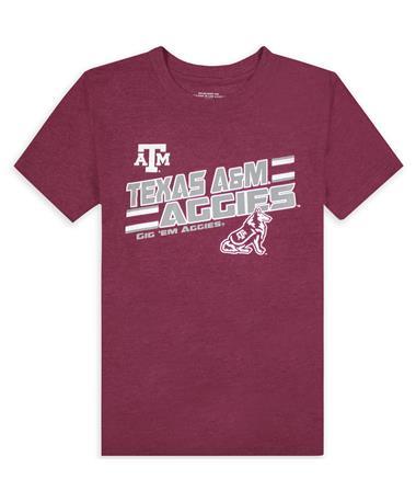 Texas A&M Aggies Maroon Reveille Youth Tee