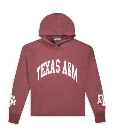Texas A&M 47' Brand Maroon Cropped Hoodie