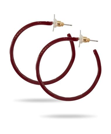 Casey & Co Maroon Acrylic Hoop Earrings