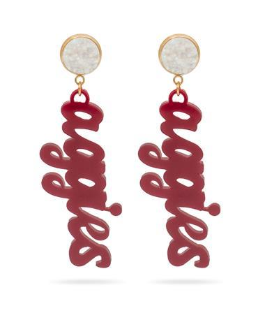 Aggies Casey & Co Maroon Druzy Earrings