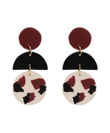 Casey & Co Leopard Tri Dangle Earrings