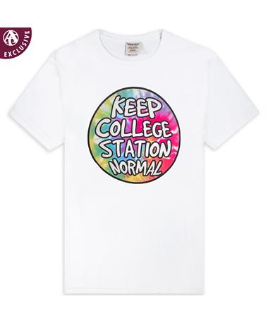 Keep College Station Normal Tie Dye T-Shirt