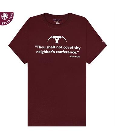 Texas A&M Maroon Champion Thou Shalt Not Covet Saw 'Em Off T-Shirt