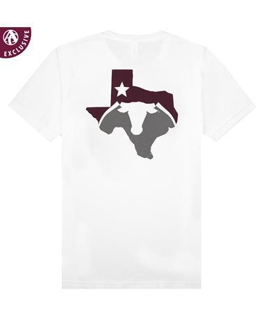 Maroon Texas Saw 'Em Off T-Shirt