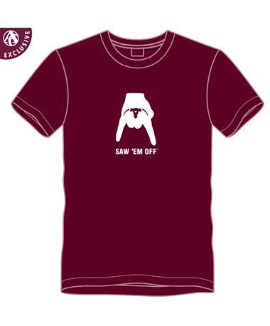 PRE-ORDER ITEM: Horns Down Saw 'Em Off T-Shirt