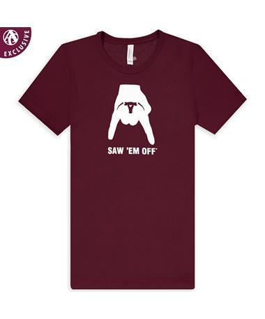 Maroon Horns Down Saw 'Em Off T-Shirt