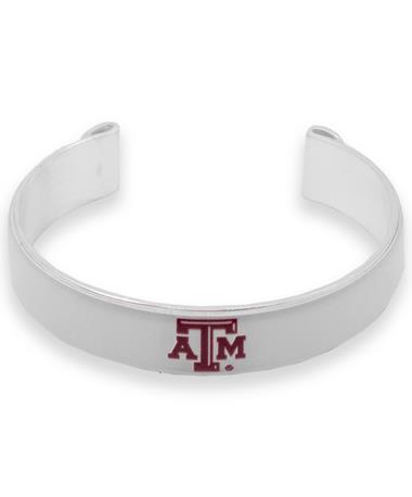 Texas A&M Art Deco Cuff Bracelet