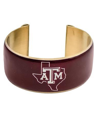 Texas A&M Maroon Lonestar Art Deco Cuff