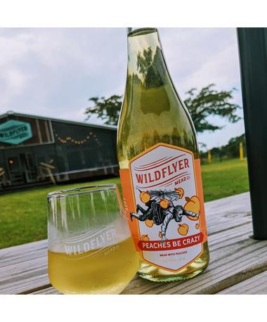 IN STORE PICKUP OR LOCAL DELIVERY ONLY: Wildflyer Mead Peaches Be Crazy Mead