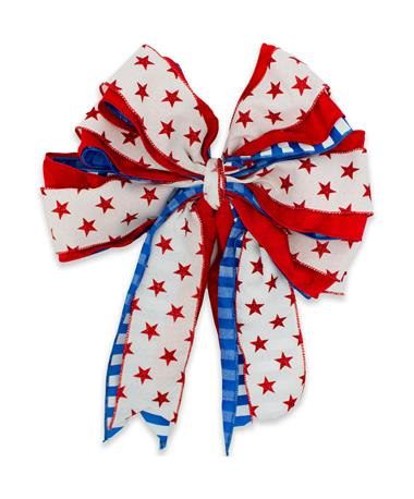 Red White & Blue Star USA Bow