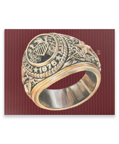 Maroon Ring Card