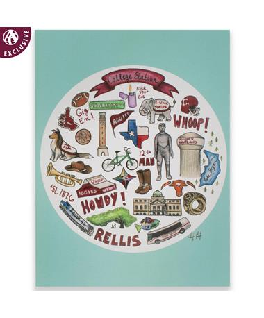 College Station Collage Note Card