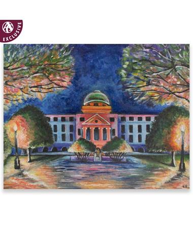 Texas A&M Colorful Academic Building Note Card