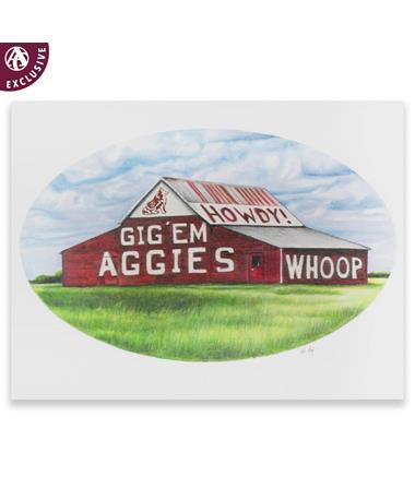 Texas A&M Aggie Barn Note Card