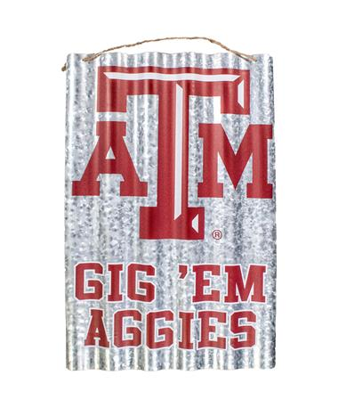 Texas A&M Corrugated Sign