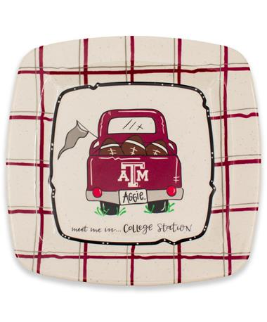 Texas A&M Truck Square Plate