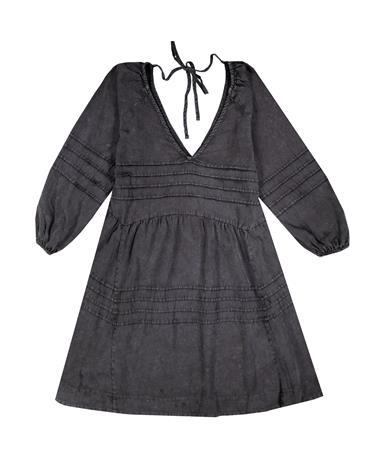 Black Washed Babydoll 3/4 Dress