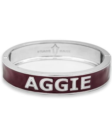 Maroon AGGIE Team Bangle