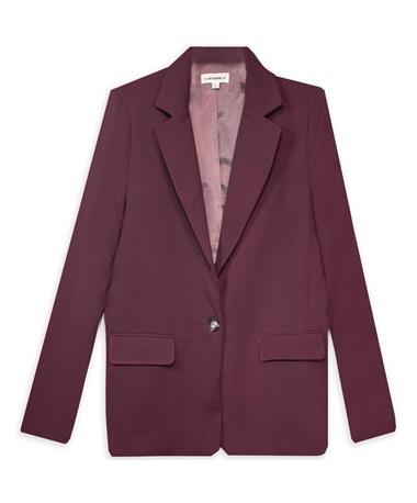 Women's Maroon Slim Fit Blazer