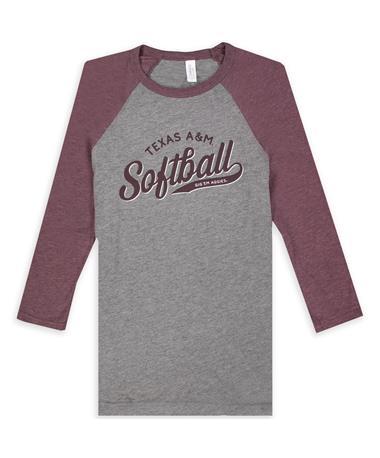 Texas A&M Softball Raglan T-Shirt