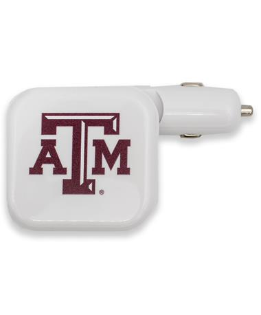 Texas A&M 2-in-1 USB & Car Dual Charger
