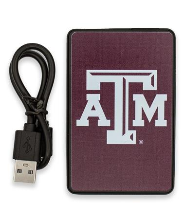 Texas A&M 2500mAh Credit Card Portable Charger