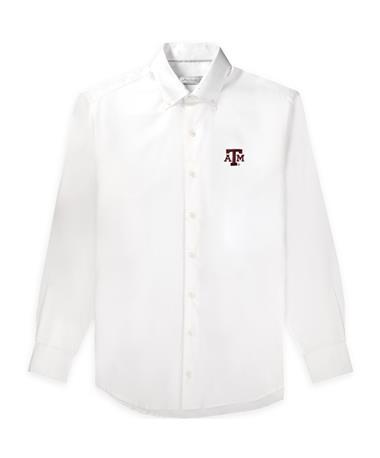 Texas A&M Peter Millar Soft Wash Stretch Woven Button Up
