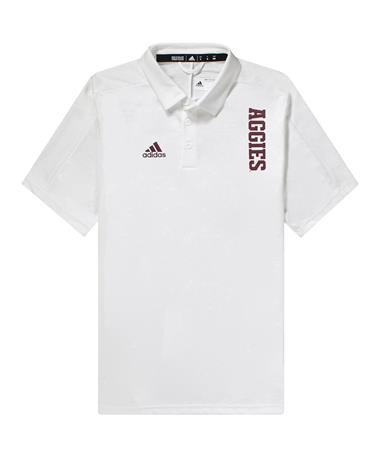 Texas A&M Adidas Sideline Coordinator Polo White