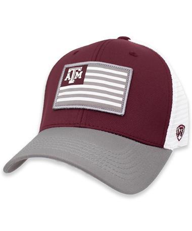 Texas A&M Flag Pedigree Three-Tone Fitted Hat