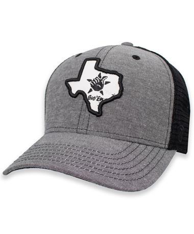 Texas A&M Gig 'Em Texas Blackline Adjustable Hat