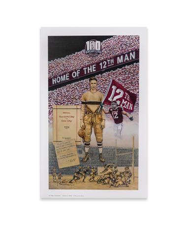 Texas A&M 12th Man Centennial Signed Benjamin Knox Print