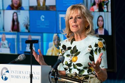 Jill Biden Dons Spring 2021 Primavera Print