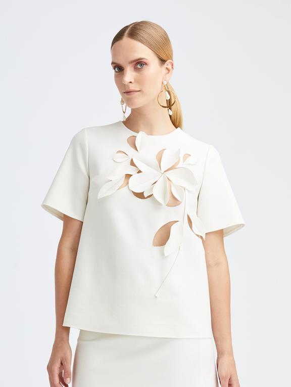 Details about  /$1590 NEW Oscar de la Renta  Overlay Neck Tie Blouse DOVE GREY S M L
