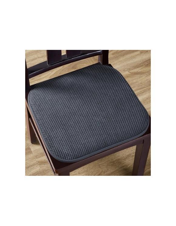 Chair Pads 2pk Mem Foam Grey Gibbons, Memory Foam Chair Pad 2 Pack